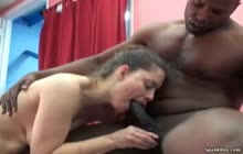 Natasha blowing big black cock