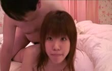 Asian teen giving head and getting fucked